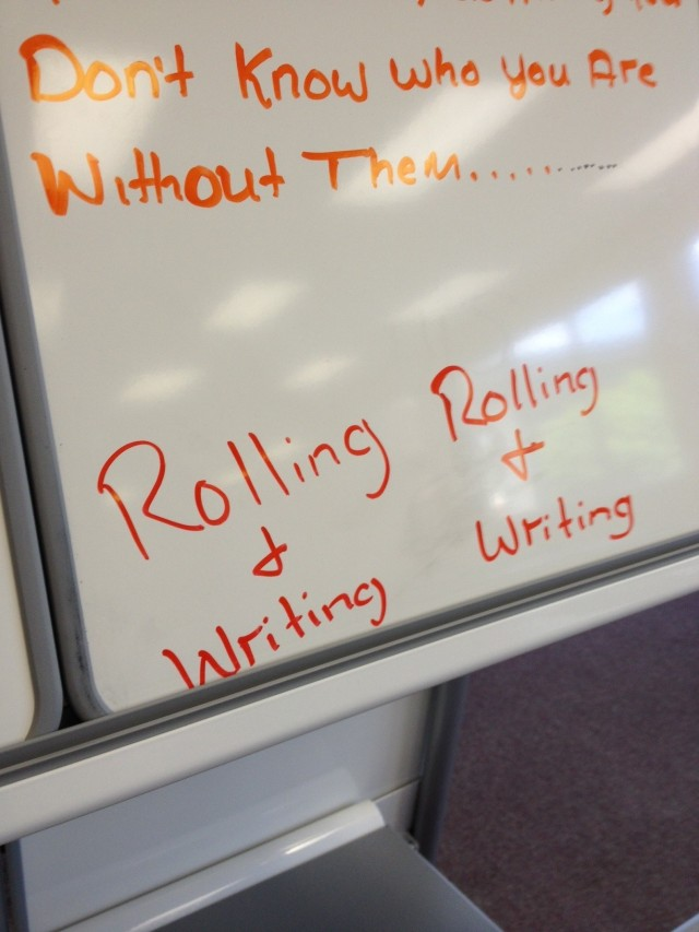 Rolling and writing with Verb whiteboards and easels