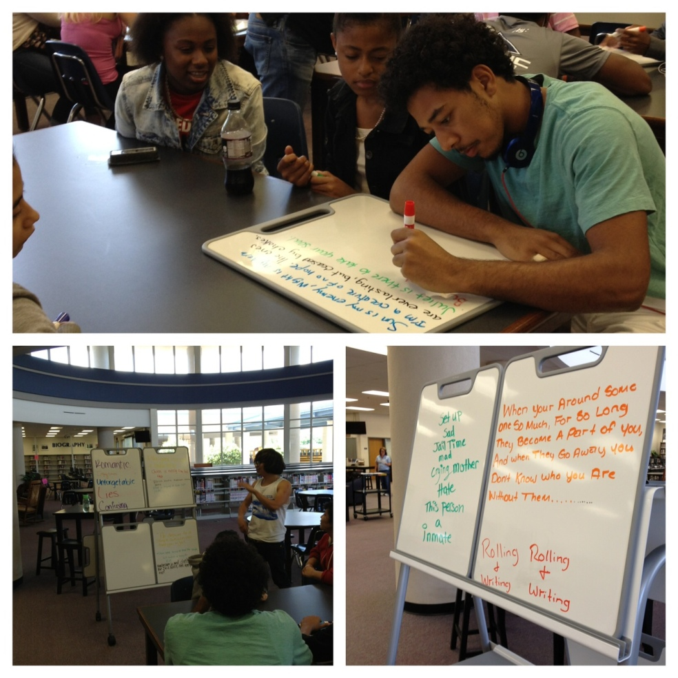 Collaborative Poetry Writing with Verb Whiteboards
