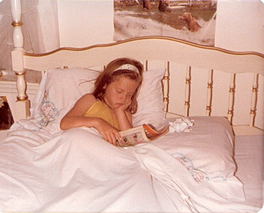 Buffy as a Child Falling Asleep with a Good Read